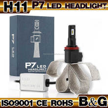 B&G Auto parts led headlight kit PHILIP h6 h8 h9 h11 fanless led motorcycle headlight for all cars