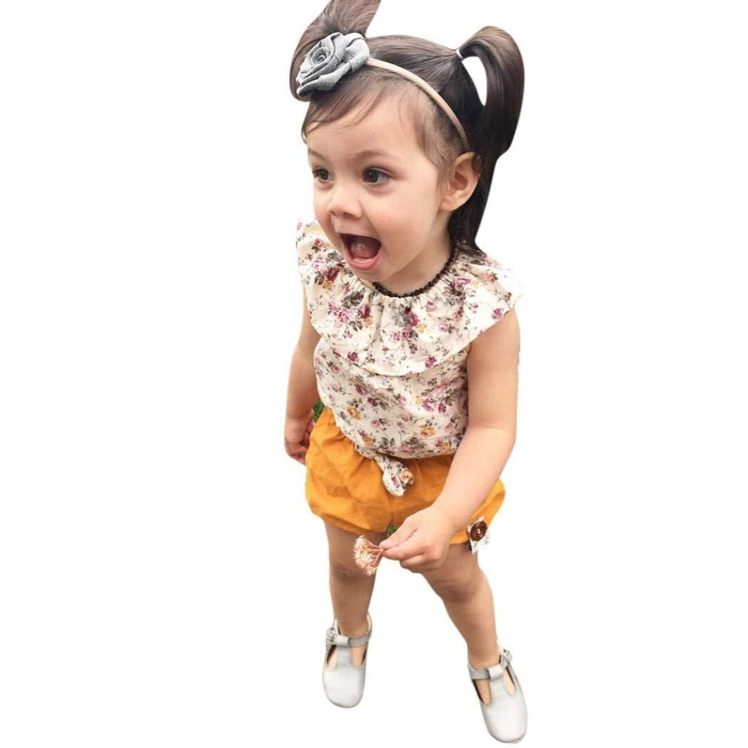 Sharemen Baby Girls Summer T-Shirt Bow Short Pants