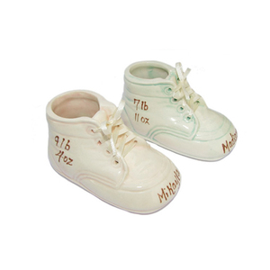 1084cabb30a2c Personalized Ceramic Baby Bootie Shoe