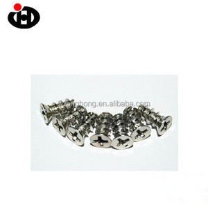 Nickel Plated Cross Recessed CSK Head Computer Screw For PC Case