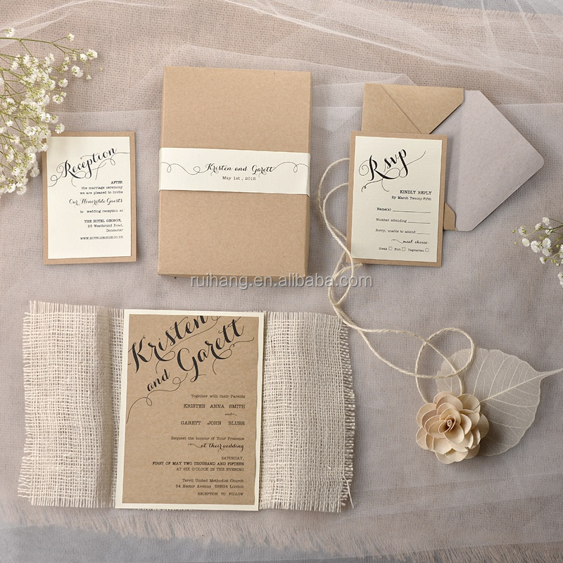 Rustic Chic Vintage Burlap Theme Bridesmaid Invitations With Lace ...