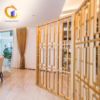 Foshan Stainless Steel Decorative Perforated Screens Design Metal Home Partition.