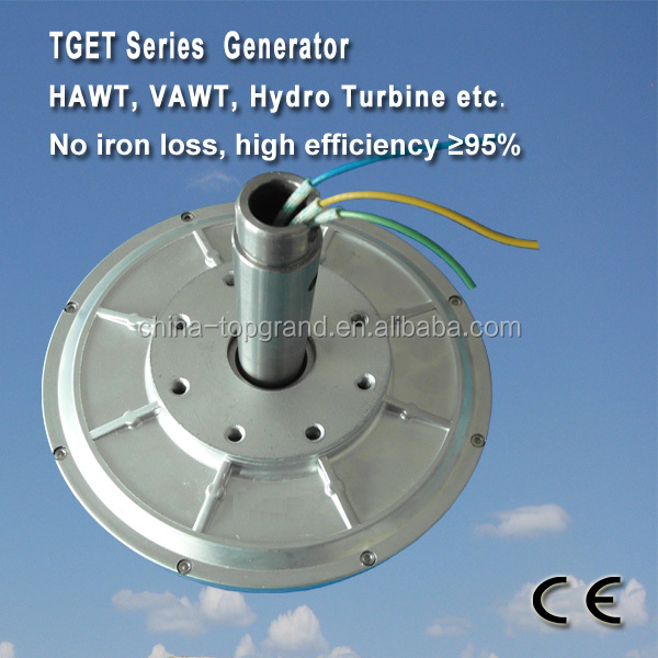 TGET260-0.2kW-200R Coreless PMG generator/wind alternator Outer rotor generator, three-phase permanent magnet alternator