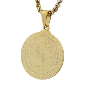 2018 new design prayer hand silver gold coin pendant