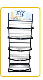 customized durable 2 layer small counter display racks
