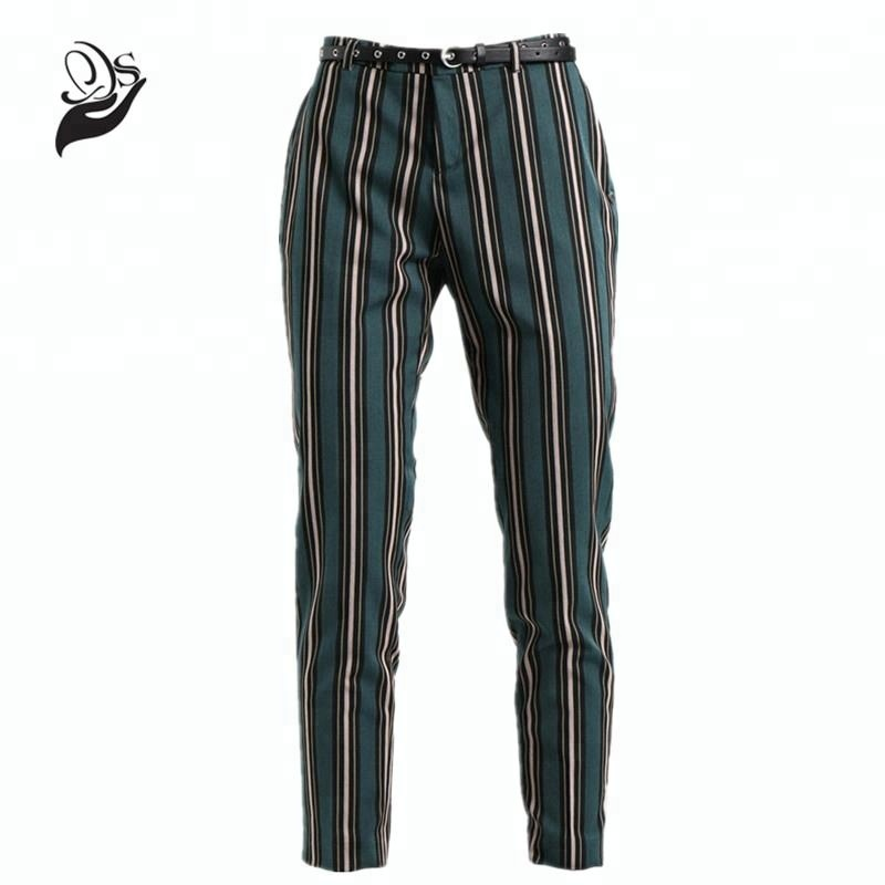 Neue Design Damen 7/8 Hose Office Damen Slim Fit Striped Pants