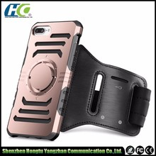 Workout armband anti-shock cover protect hard PC inner TPU case for IPhone 6 7 7plus