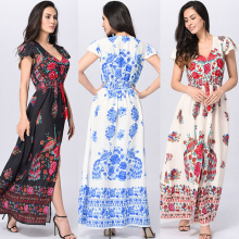 Maxi long beach dress,ladies sexy women clothing for women western wear dresses