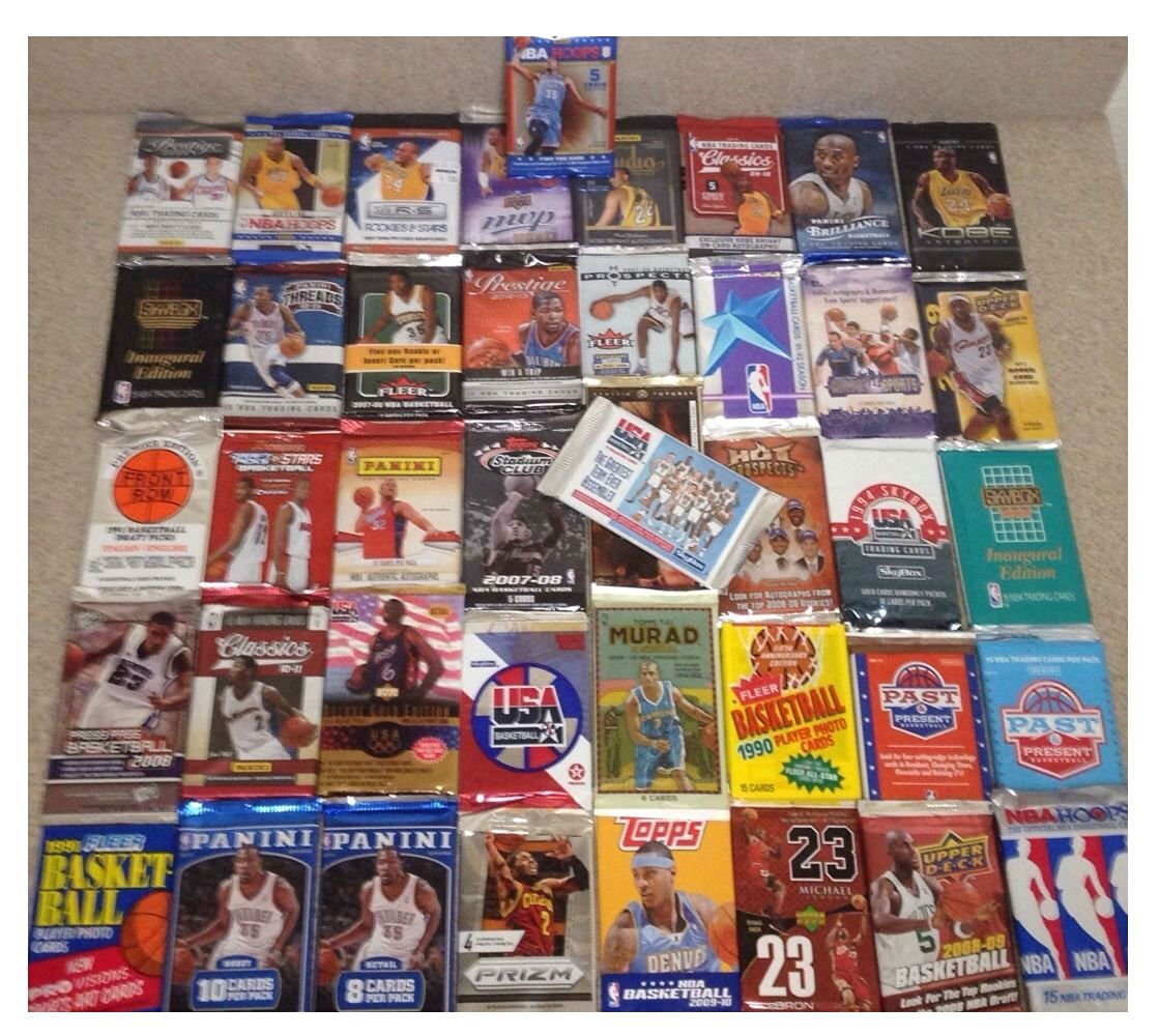 GREAT LOT OLD NEW UNOPENED BASKETBALL CARDS IN PACKS AUTO? RC? CURRY? FREE XTRAs?