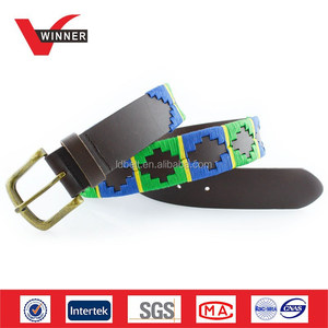 Men genuine leather polo belt