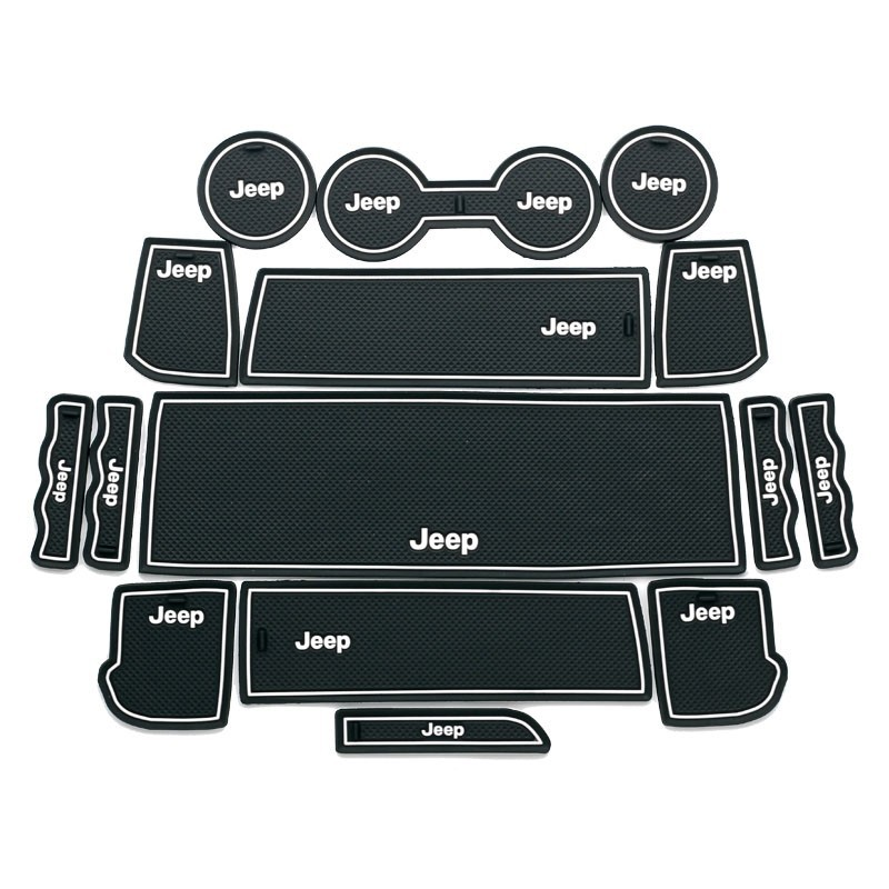 Auto Decoration for Jeep Compass 11-13 Anti Slip Mat, Door Gate Slot Mat, universal car mats