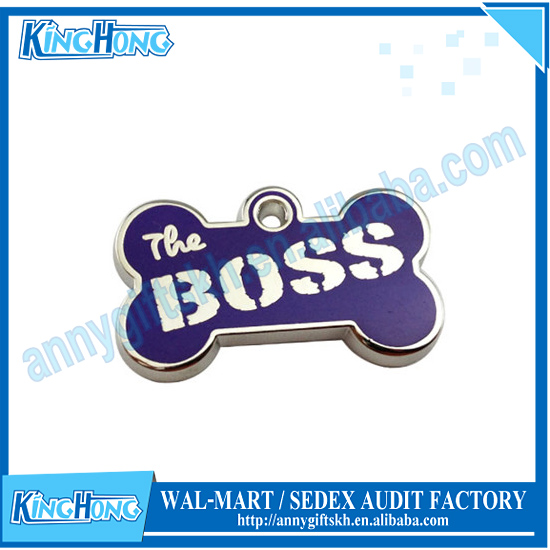 Boss unique name engraved on tags small pet id tags