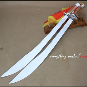 Wushu Kung Fu Tai Chi Double Broad Swords Double Swords Wushu Training Dao  Shuang Dao Swan Dao