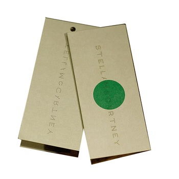 custom design clothes brand printed paper private label high tech hang tag for clothing