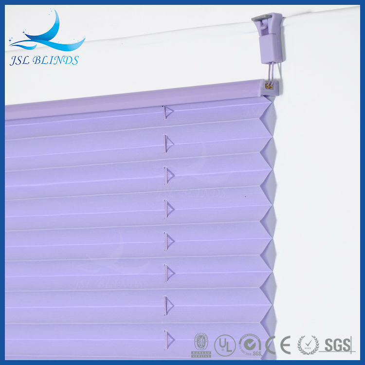Factory Direct Supply Pleated / Plissee Window Paper Blinds for Balcony