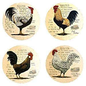 Rooster Lineage Absorbent Coasters
