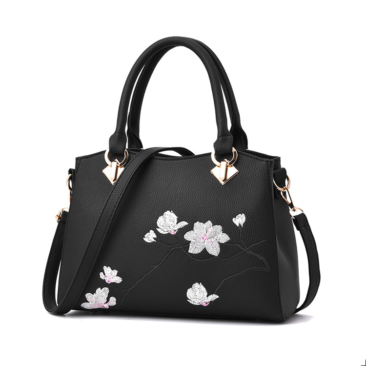 1HD0086 Direct Buy Women Fancy Embroidery Flower Bags Handbag From China