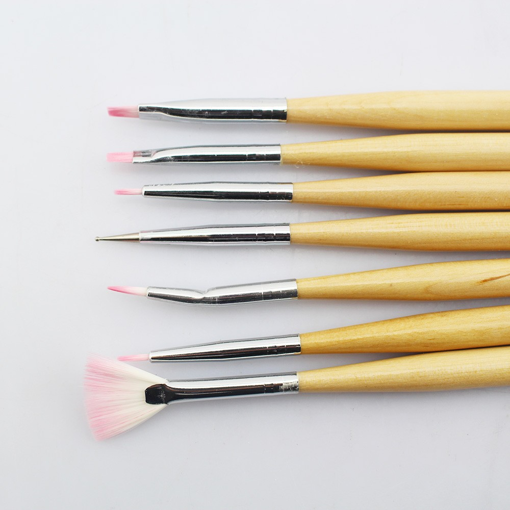 Best Wooden Silicone Kolinsky Nail Art Brush For Nail Art Salon Use