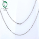 "Caimao Ladies 18k White Gold Chain 18"" About 45cm Necklace love Best Gift For women AU750"