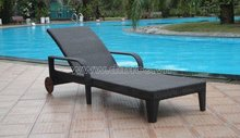 Outdoor Day Bed/ PE wicker Sun Lounger/ Aluminium Fram