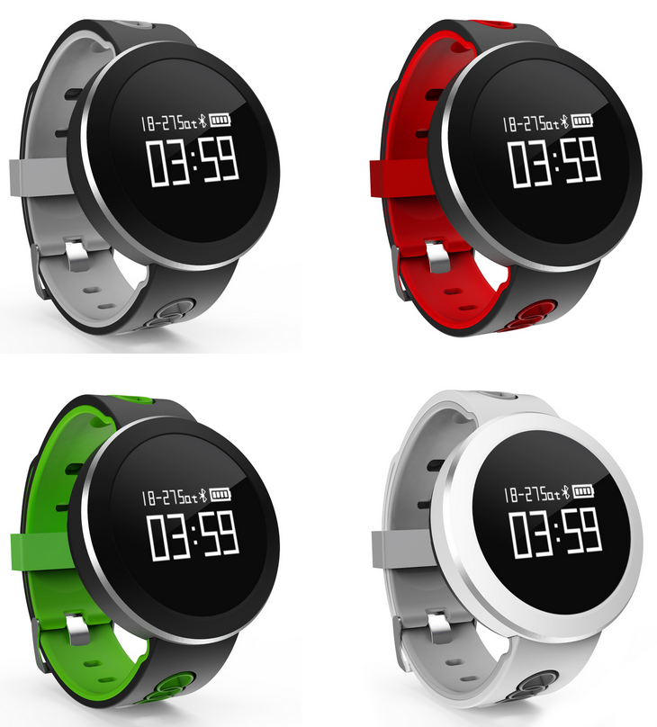 Q7 Smart watch multicolor wrist band watch IP68 waterproof