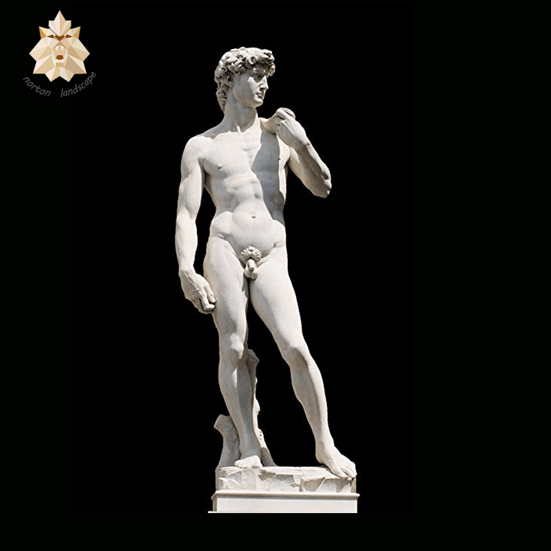 Europe style famous antique life size figure sculpture stone marble David statue for sale NTRS017S