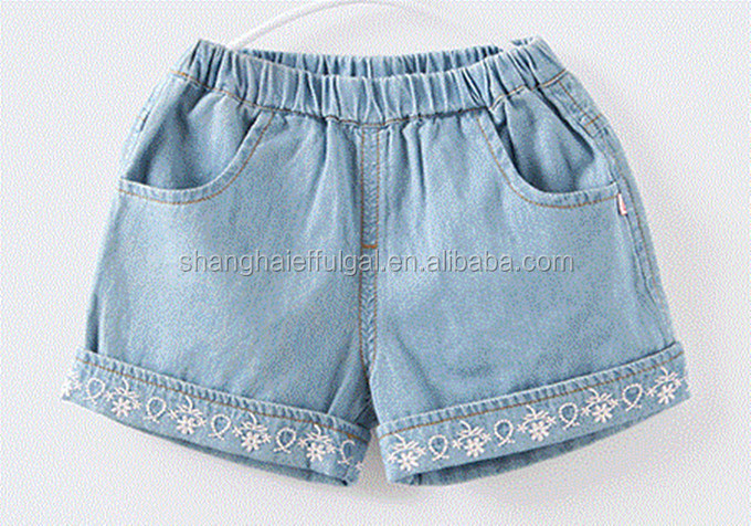 2016 High quality young children's jeans shorts