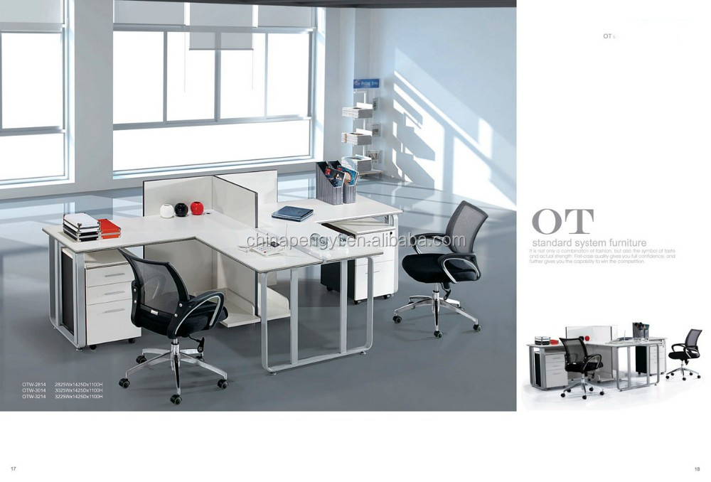 Lowest Price Office Furniture T Shaped 2 Person Office