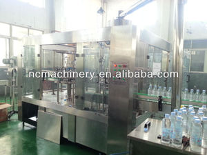 Mineral water monoblock filler and capper
