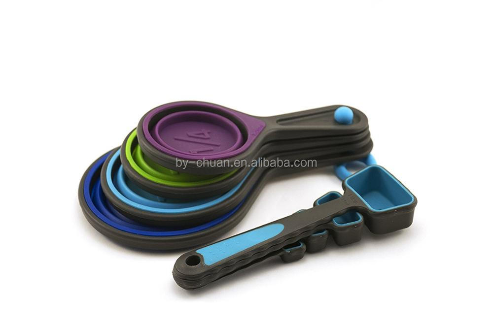 Collapsible Measuring Cups And Measuring Spoons Portable Food Grade  Silicone For Liquid U0026 Dry Measuring