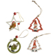 ball shaped wooden snowman small decoration hanging ornament