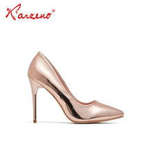 Sexy Fashion Custom Classic Women shoes PU Reflective upper High Heels  Dress Shoes Pumps Ladies Fancy Party Wedding Shoes