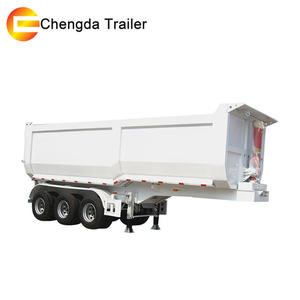 Low Price hino hydraulic dump trailer with electric brakes