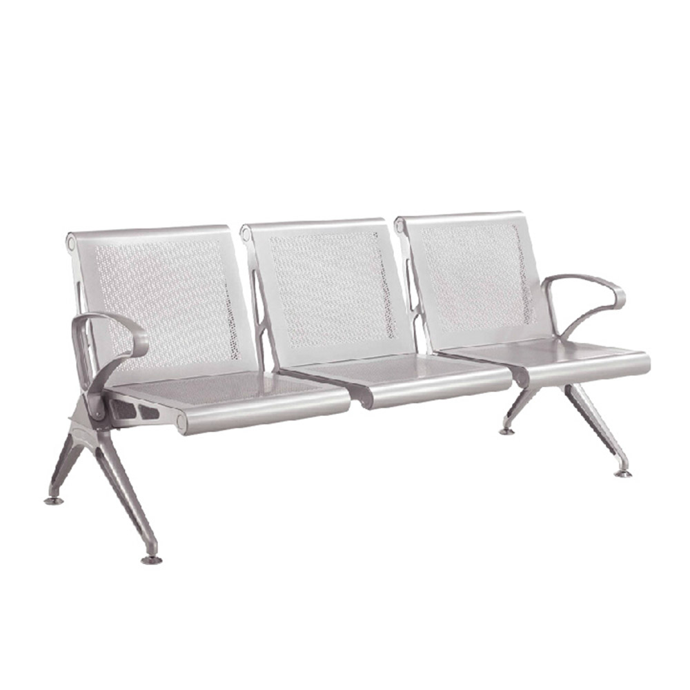 Hot Stainless Steel Bench Seat 4 Seater Waiting Chair Seating