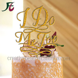 Wholesale Cake Decorations For Acrylic Cake Topper, Wedding Cake Topper Monogram, Cake Topper Design For I Do & Me Too ,