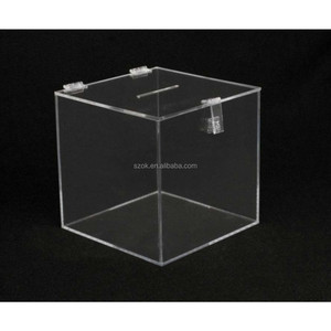 Clear acrylic custom waterproof box with lock manufacture