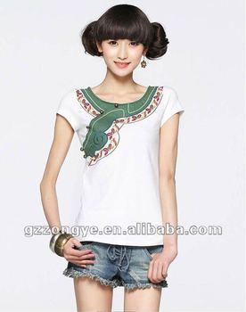 Chinese Tang Pak Stijl T shirt Traditionele Ontwerp Buy Designer T shirt,Vintage T shirt,Meisje T shirt Product on