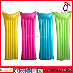 High quality Cheap Yellow/Rose Red/Blue/Green colors 183x69cm Whole sale inflatable mattress