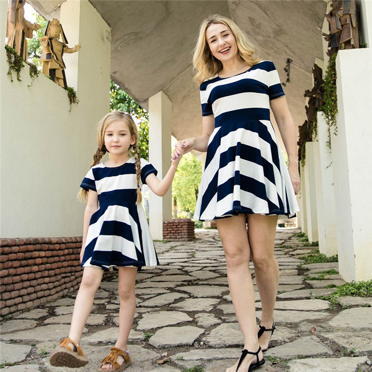 Mother-daughter Parent-child dress sets mother and daughter matching family dresses