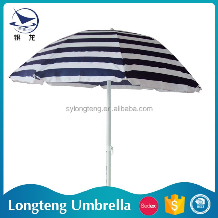 Top selling Wind resistant Sunshade Polyester beach umbrella
