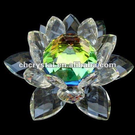 Rainbow Glass Crystal Lotus Flowerrainbow Lotus Flower Ornament