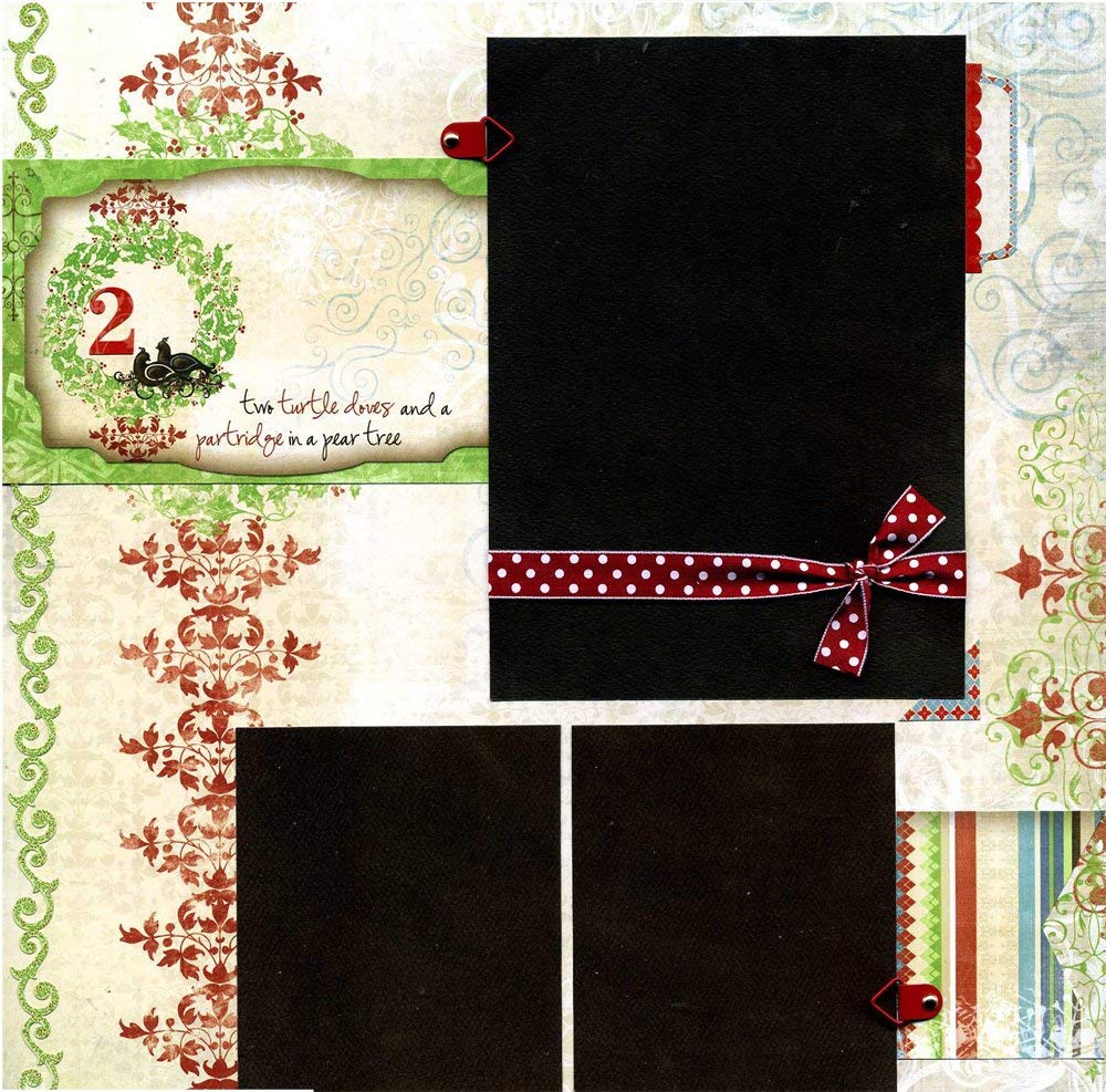 Two Turtle Doves - Premade Scrapbook Page
