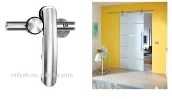 Single Glass Door Sliding Open Barn Doors Interior Glass Doors For Shower  Room