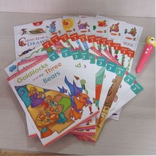 Learning Jouet Recording Pen and Sound English Book Children's English Reader with Very Short Stories for Kids 28 Books