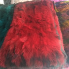 Factory Direct Sale Natural Raccoon fur Blanket Real Raccoon Belly Splicing Fur Plate 55*110cm