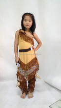 Crianças fancy dress traje Pocahontas Native American Indian