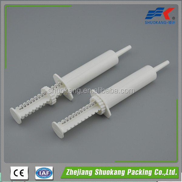 30ML plastic veterinary syringe with dose ring