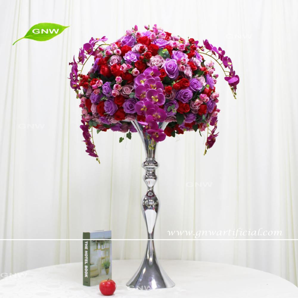 Gnw Beautiful Spring Wedding Fuschia Rose White Orchid Flower ...