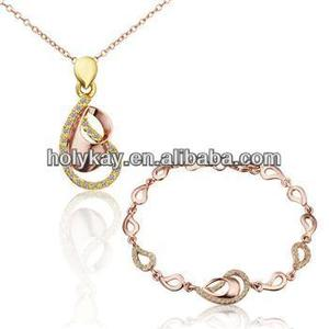 latest model fashion necklace one gram gold jewellery set