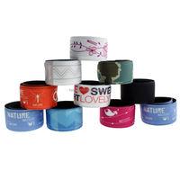 china custom-made brand names print slap bracelet company name